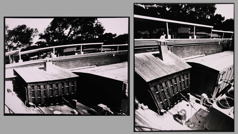 """Skewed perspective with skewed film plane in pinhole camera, each image 11"""" x 14"""", 2005"""