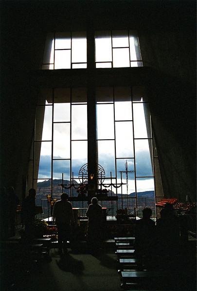 Interior of church.  Sedona, Arizona.