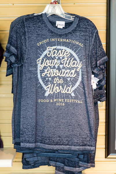 Taste Your Way Around the World T-shirt - Epcot Food & Wine Festival 2016