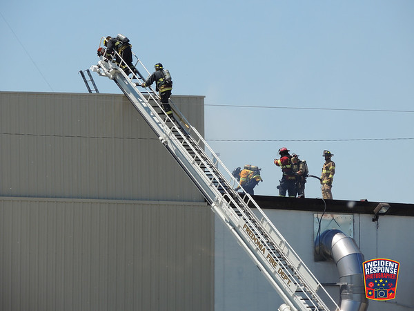 Roof fire at Lakeside Foods on June 17, 2016