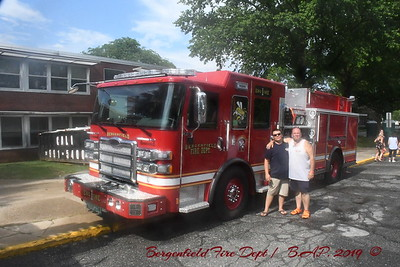Bergenfield N.J. Wet Down for New Engine 1 & Ladder 1