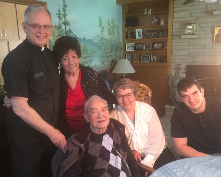 Fr. Bob Fisher Joins us for a family gathering at home last Saturday, May 20th.