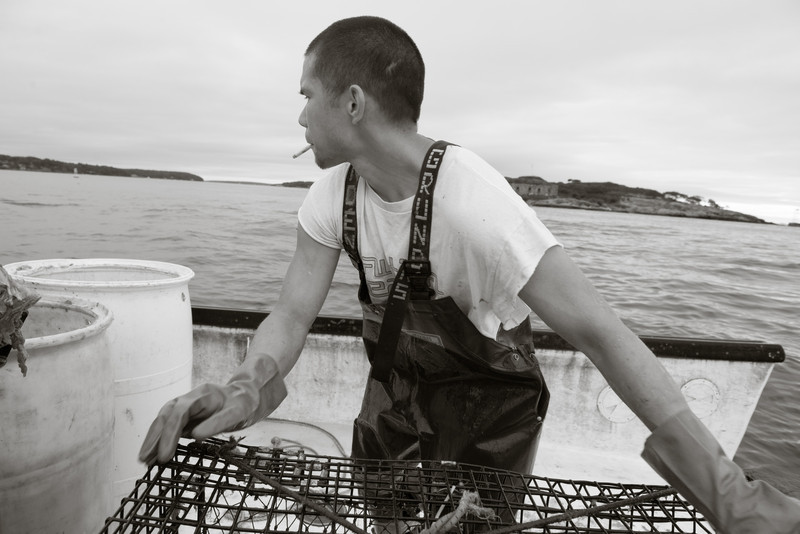 52. Lobstering, Casco Bay, Maine with Jim Buxton, August 2013.
