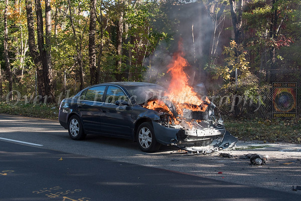 Roslyn MVA with Car Fire 10/30/2018