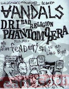 The Vandals - DRI - Bad Religion - Phantom Opera - at Fenders Ballroom - Long Beach, CA