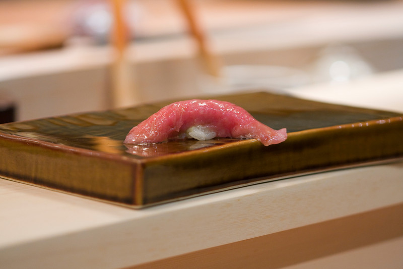 Course #10: Sushi Sushi #1: Toro Sushi #2: Maguro (Bluefin Tuna) (not pictured)  The toro melts in your mouth.