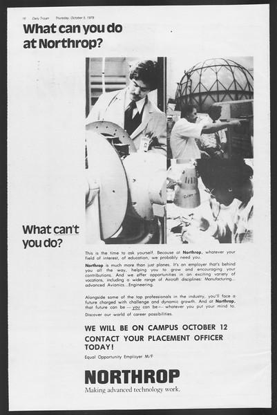 Daily Trojan, Vol. 75, No. 13, October 05, 1978