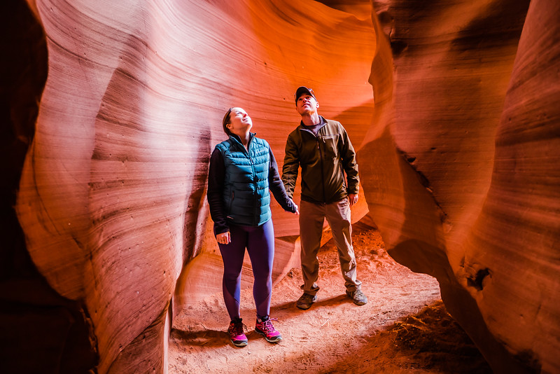 Divergent Travelers in Antelope Canyon, AZ