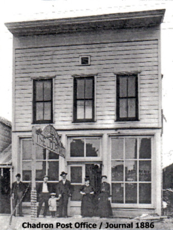 Early Chadron Post Office and Chadron Journal building