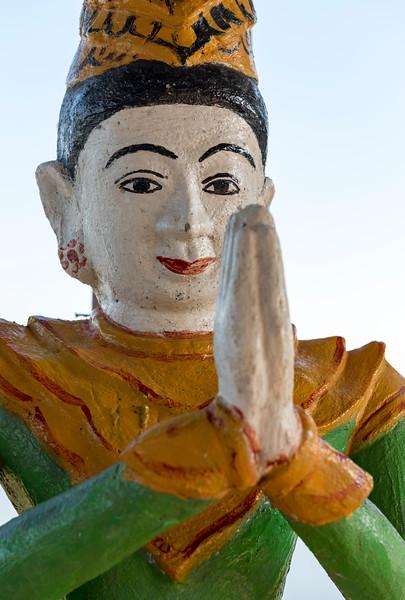 Statue at Latsay Kan Pagoda, Mrauk U, Burma