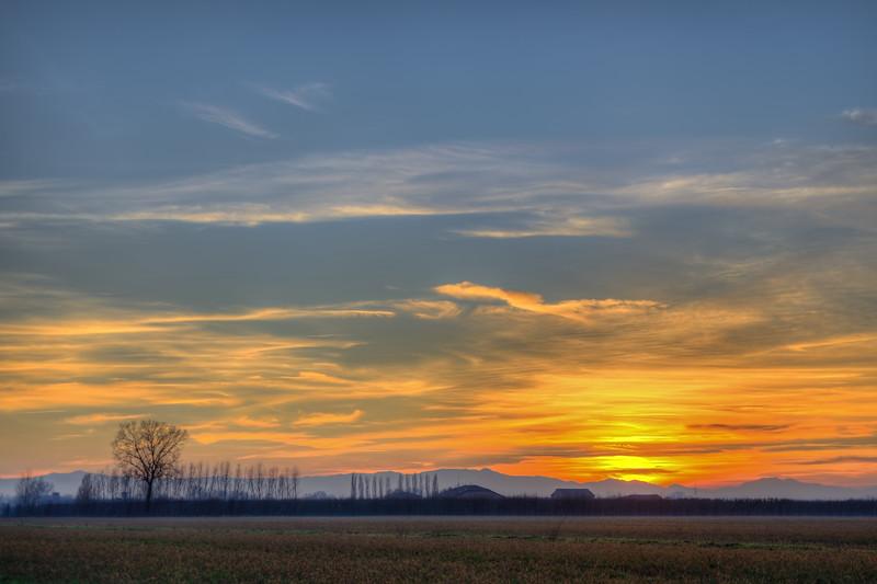 Sunset - Nonantola, Modena, Italy - December 29, 2012