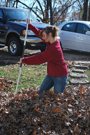 Raking Leaves - November 2008