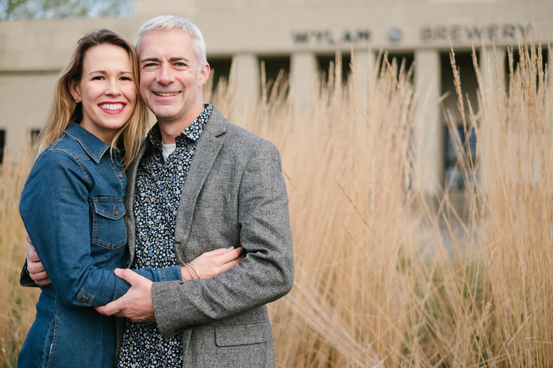 Gina & Kevin's Wylam Brewery Engagement Shoot