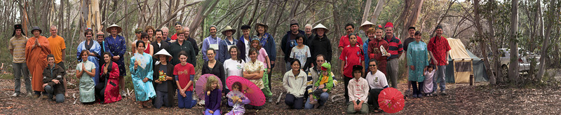 In 2007 the group photo was comparatively small: only 25 people. In 2008 we had almost fifty people. This is the highest quality Mount Buffalo photograph we've ever taken. It is stitched together from eight photographs and is over fifty megapixels per size (a million pixels per person. Yay!) The next seven pictures in this gallery represent closeups.