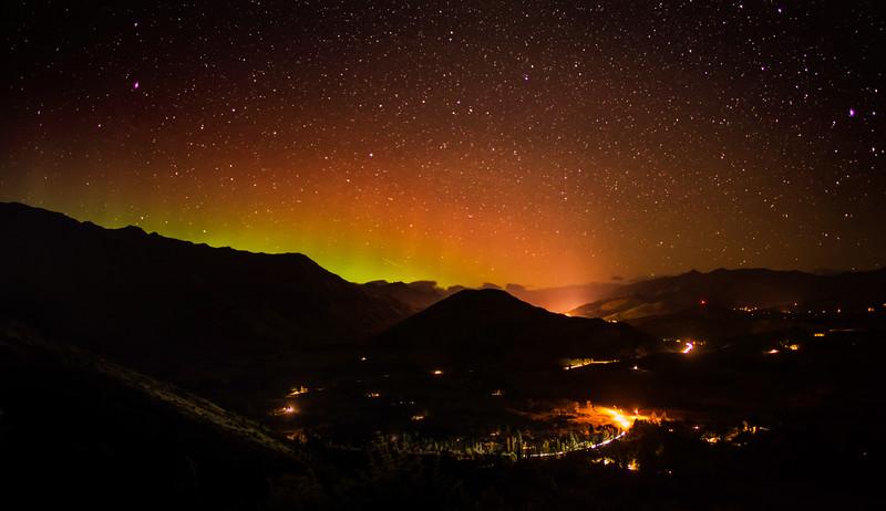 Aurora Over The Valley