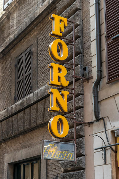 Neon Pizzeria Sign, Rome