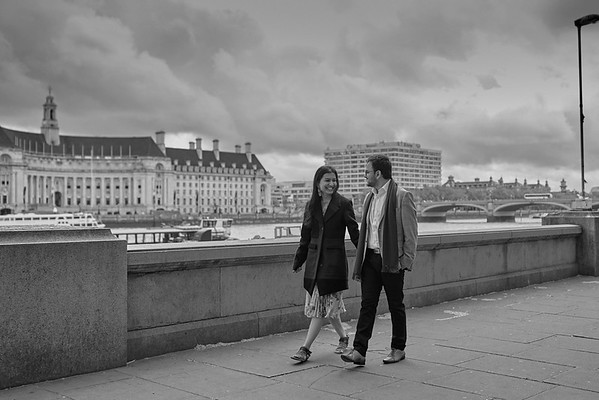 London Engagement Photo Session - White and Black Photography
