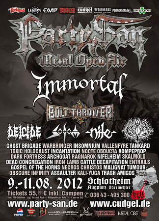 BOLT THROWER - Party.San  Schlotheim, Germany 9/8 2012