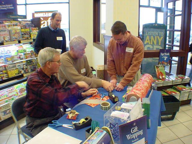 2003-12-14 - Dwaine, John Beckendorf, Jack Evans; Phil Brekken looking on