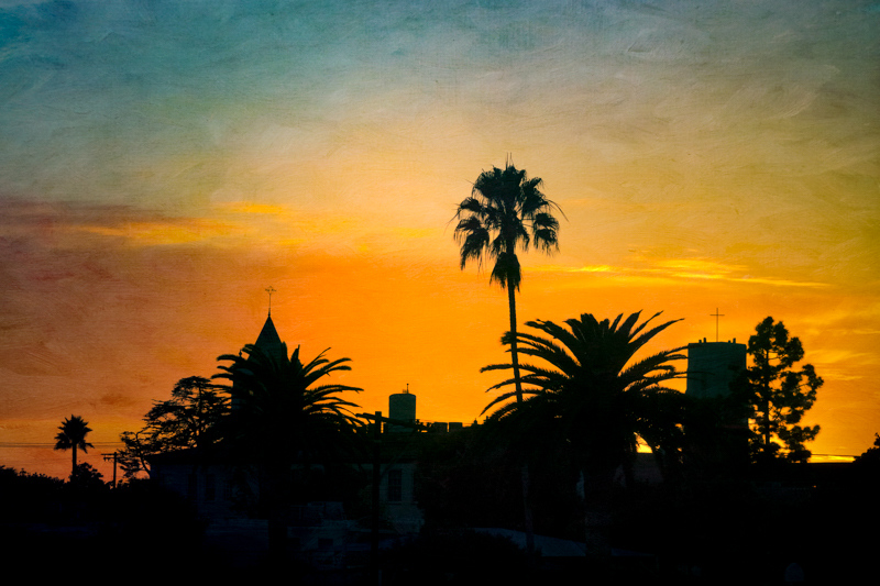 November 22 - Holy sunset over churches and palm trees on Shabbat.jpg