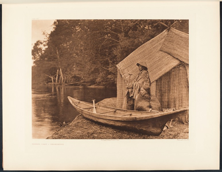 The North American Indian, vol. 9 suppl., pl. 302. Fishing camp - Skokomish