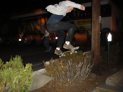 Skateboarding in april 2005