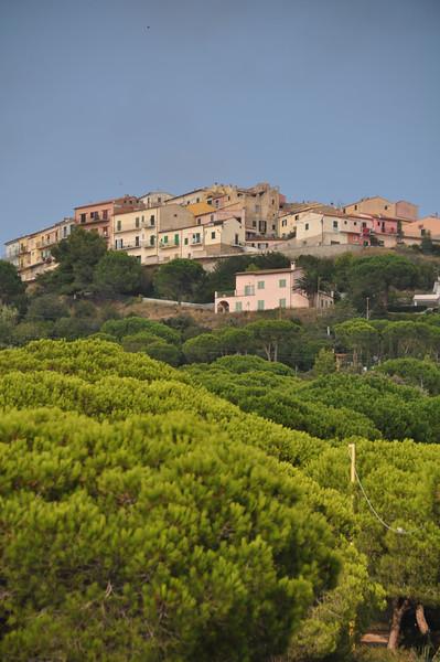 Capoliveri as seen from near Le Grazie Est