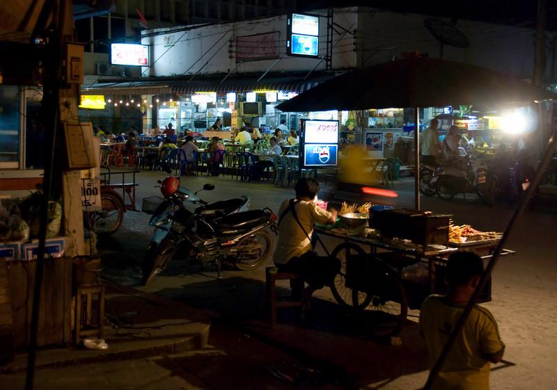 Near night market in Sukothai