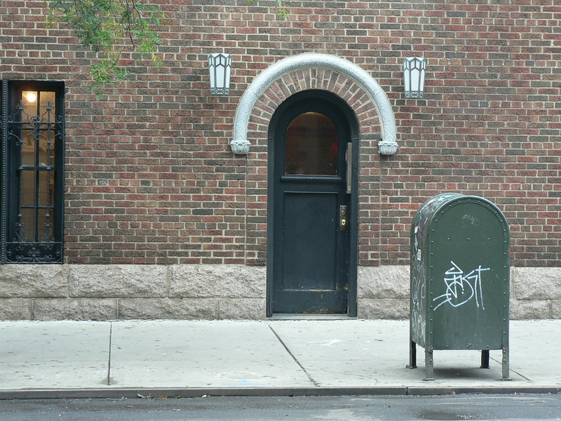 I liked the echoing arches in this street view in Greenwich Village