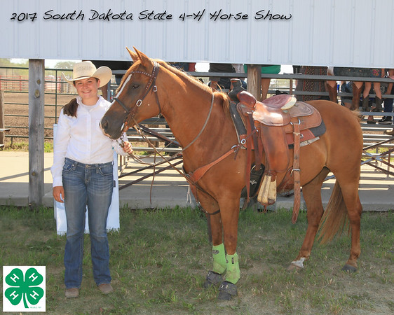 2017 SD State 4-H Horse Show Event Winners