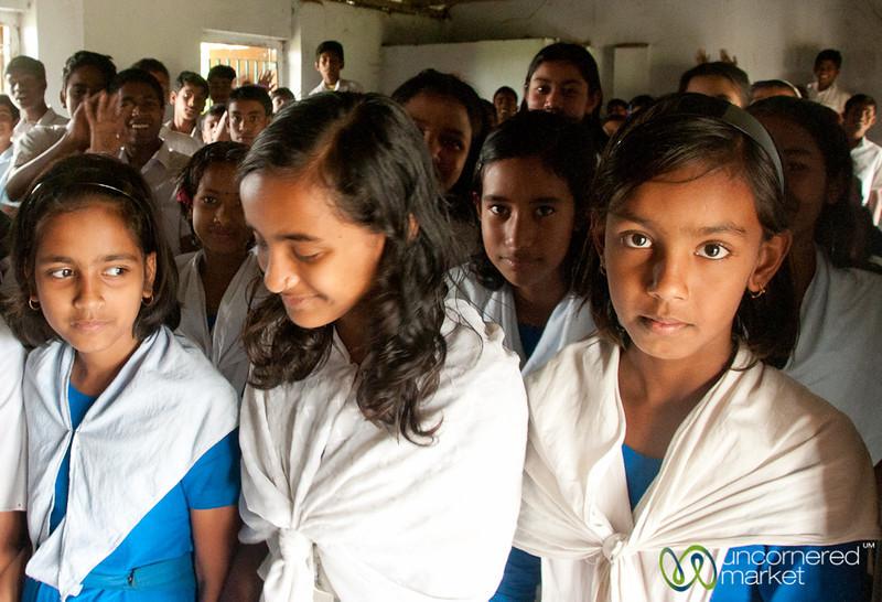 Shy Girl Students - Nalbata, Bangladesh