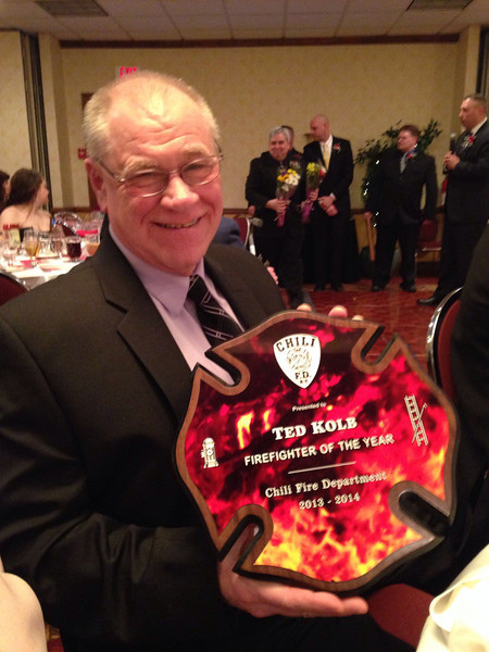 FF of the yr award at the CFD Inspection banquet.