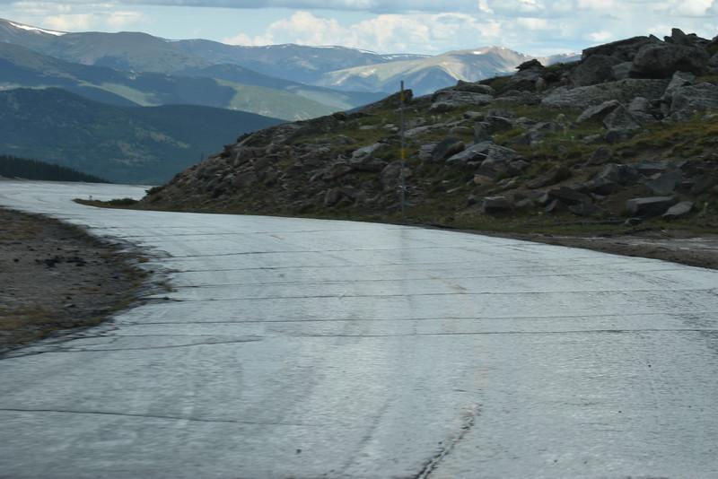 Wet road, no sleet anymore.