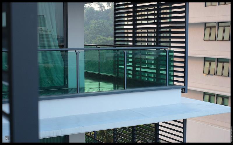 Finally, the balcony was mopped