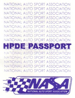 NASA HPDE Passport