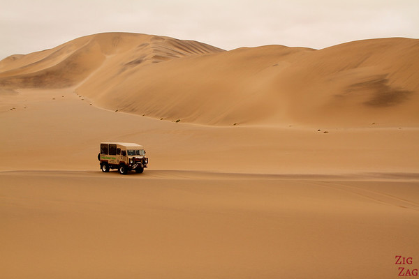 4WD in the sand dunes, Swakopmund, Namibia photo 2