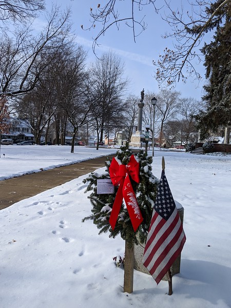 Memorial Wreaths at Memorial Park