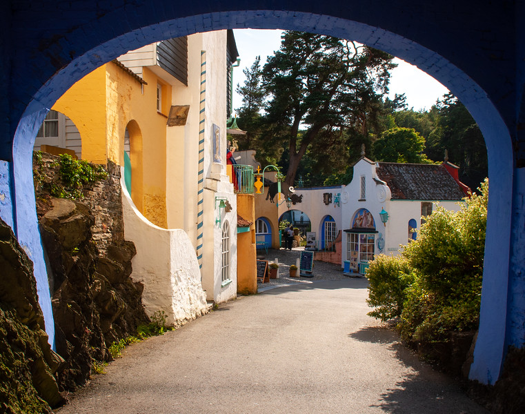 Portmeirion moden village in Wales