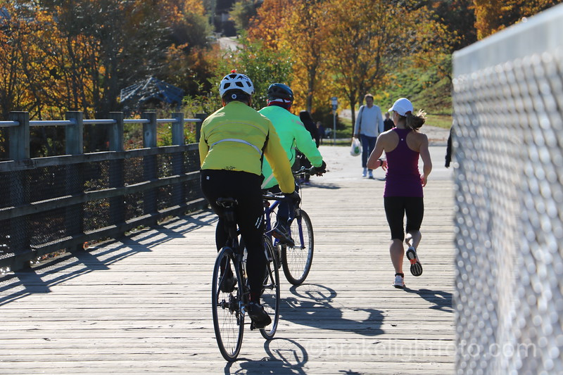 Biking and jogging on Selkirk Trestle