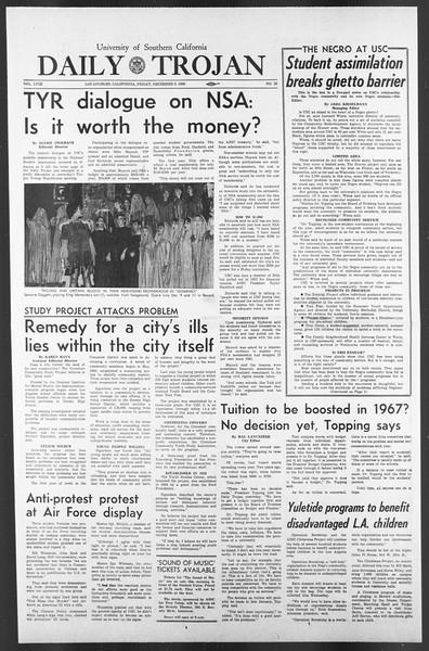 Daily Trojan, Vol. 58, No. 55, December 09, 1966