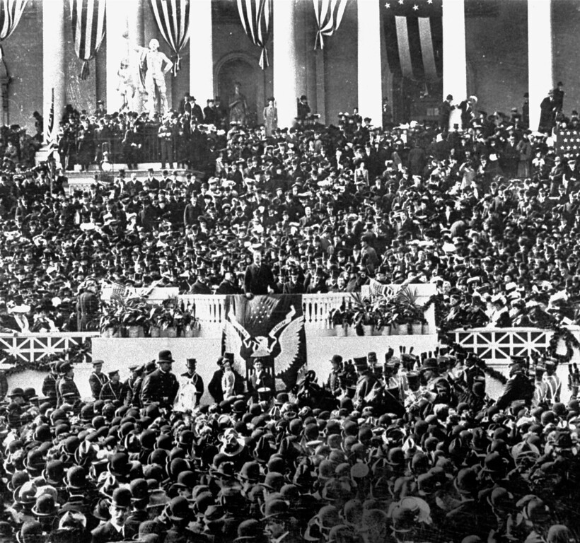 . The inauguration of President Theodore Roosevelt, 1905. (AP Photo)