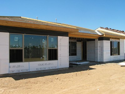 The wiring is in, ready for stucco - June 2005