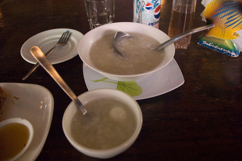 Trying out Bird's Nest Soup - Palawan, Philippines