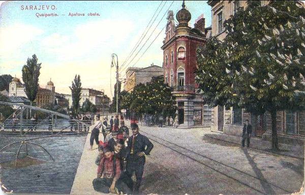 Apelova obala i zgrada Union Banke - 1909.