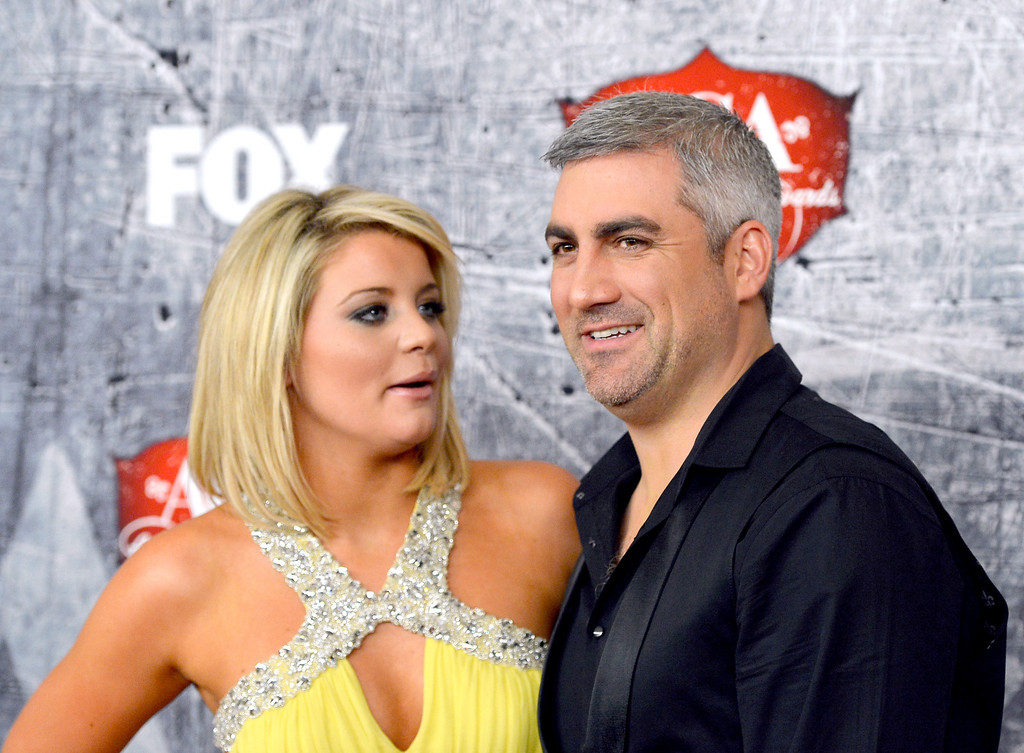. LAS VEGAS, NV - DECEMBER 10: (L-R) Singers Lauren Alaina and Taylor Hicks arrive at the 2012 American Country Awards at the Mandalay Bay Events Center on December 10, 2012 in Las Vegas, Nevada.  (Photo by Frazer Harrison/Getty Images)