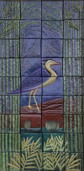 Bird on a door