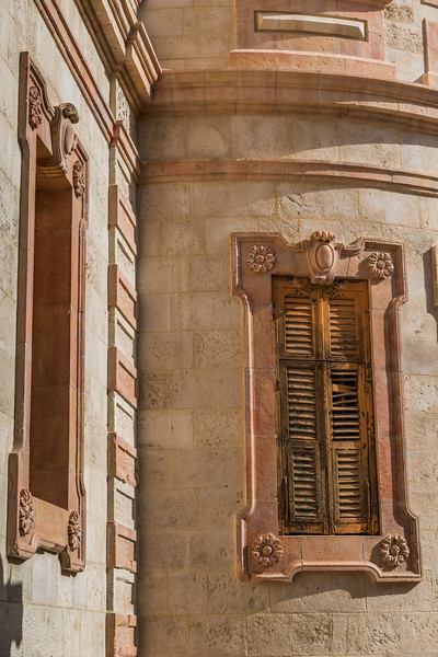 Architectural details of Alexander Nevsky Church in Old Jerusalem