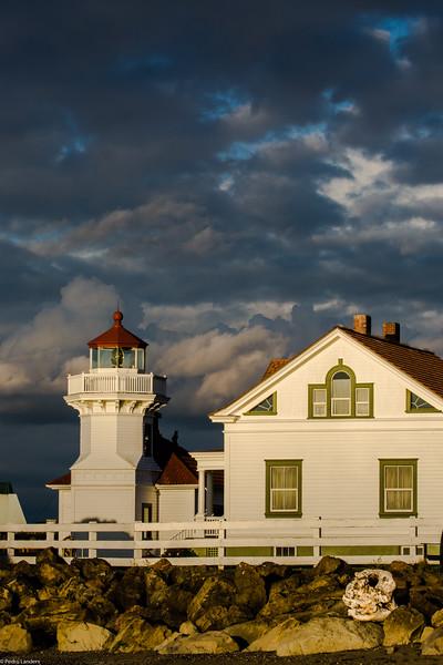 Mukilteo Lighthouse at Sunset