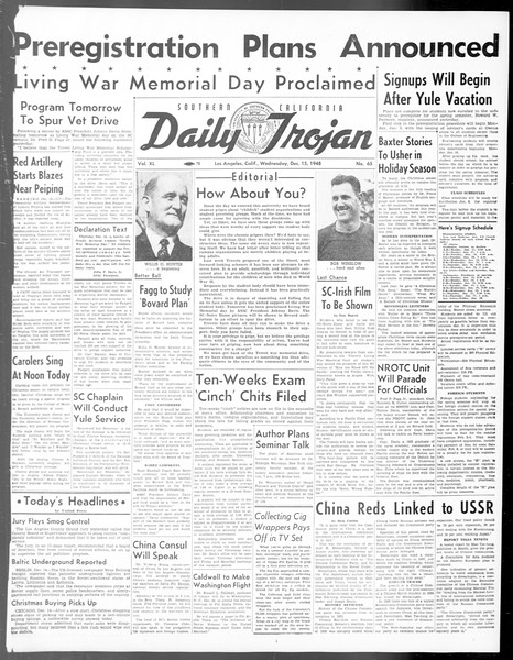 Daily Trojan, Vol. 40, No. 65, December 15, 1948