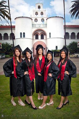 04.18.2014 - Jennifer, Jessica,  Kim, Meghan, Yvette Grad Photos